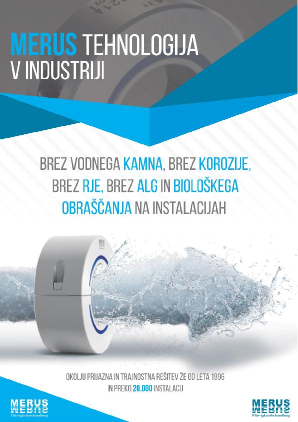 MERUS tehnologija v industriji naslovnica spletnega kataloga